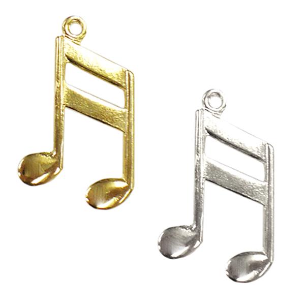 手芸金具 『チャーム 16分音符 (#013) 金色』