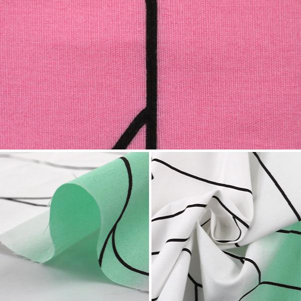 【コスプレ関連最大20%オフ】 【数量5から】 生地 『矢絣柄 ブロード ピンク×水色』 99078-6A
