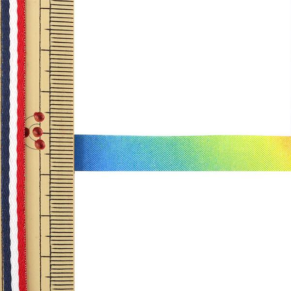 【数量5から】リボン 『レインボーリボン オーガンジー 9mm 7番色』