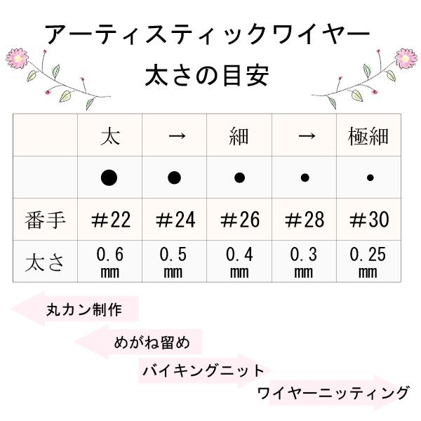 手芸ワイヤー 『アーティスティックワイヤー ミニ ノンターニッシュブラス #28』