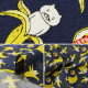 【数量5から】生地 『ブロード ねこバナナ ネイビー KTS6692-E』 COTTON KOBAYASHI コットンこばやし 小林繊維