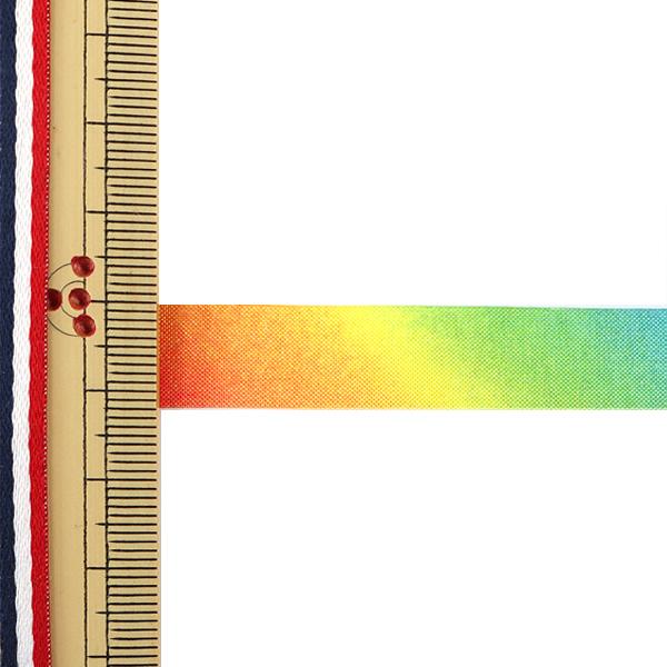 【数量5から】リボン 『レインボーリボン オーガンジー 12mm 7番色』