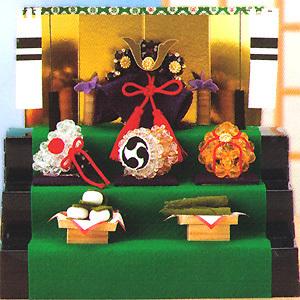 節句ビーズキット 『クラフトビーズで作る クリスタル兜の三段飾り CR-50』 Panami パナミ タカギ繊維