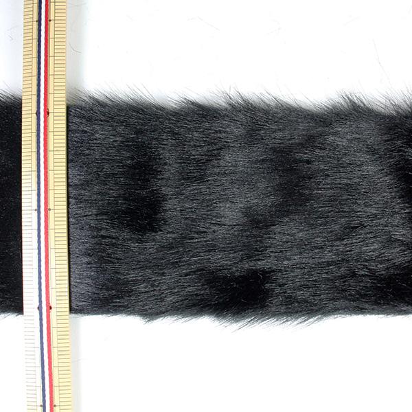 【数量5から】リボン 『フェイクファーテープ 100mm幅 6色 2:Black』
