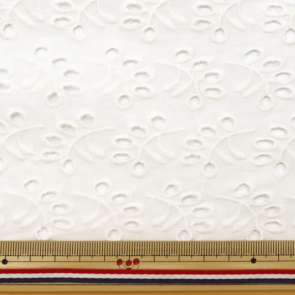 【数量5から】 生地 『綿 オールオーバーレース ホワイト BEI-30003』