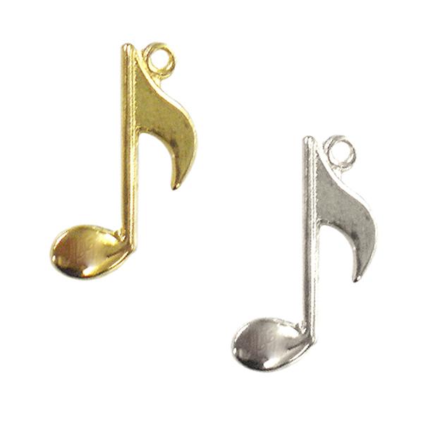 手芸金具 『チャーム 8分音符 (#015) 銀色』