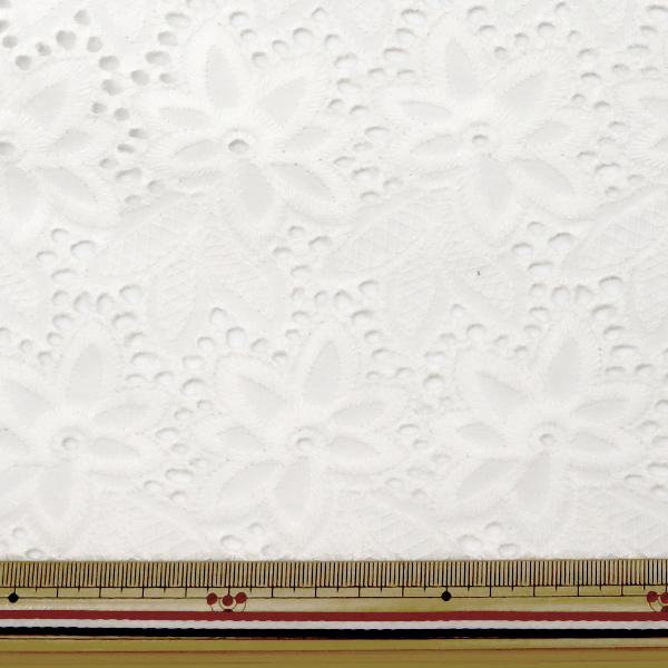 【数量5から】 生地 『綿 オールオーバーレース ホワイト BEI-30006』