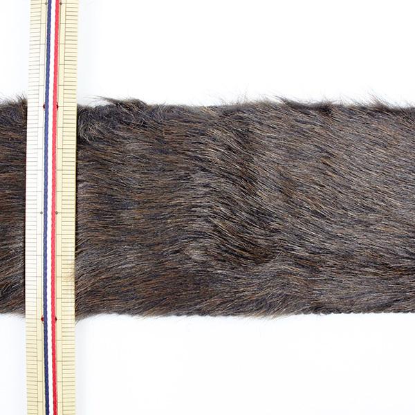 【数量5から】リボン 『フェイクファーテープ 100mm幅 6色 4:Brown』