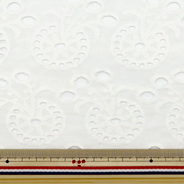 【数量5から】 生地 『綿 オールオーバーレース ホワイト BEI-30007』