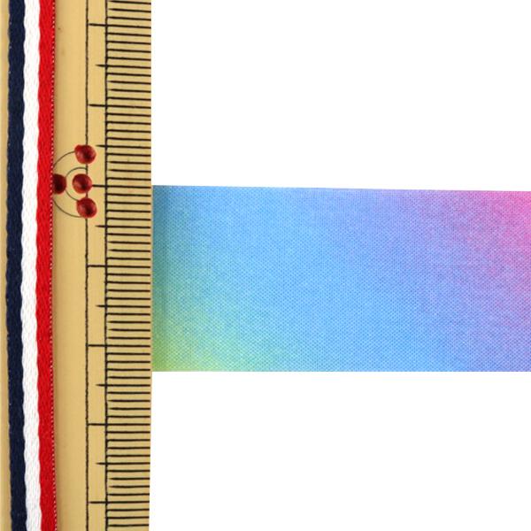 【数量5から】リボン 『レインボーリボン オーガンジー 24mm 7番色』