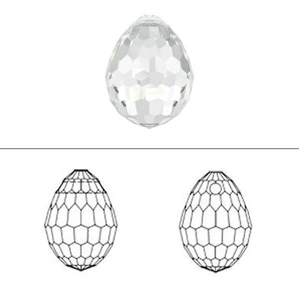 スワロフスキー 『#6002 Plump Teardrop Pendant クリスタル/AB 10×7mm 1粒』 SWAROVSKI スワロフスキー社