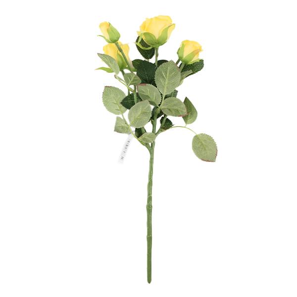 造花 シルクフラワー 『カールローズスプレー イエロー』