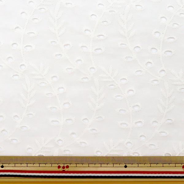 【数量5から】 生地 『綿 オールオーバーレース ホワイト BEI-30011』