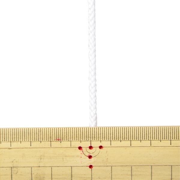 【数量5から】 手芸ひも 『アクリルコード 中 幅約4mm 001番色 A3000』