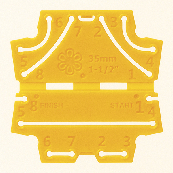 モチーフ型 『つまみ細工プレート 丸つまみ SS 57-457』 Clover クロバー
