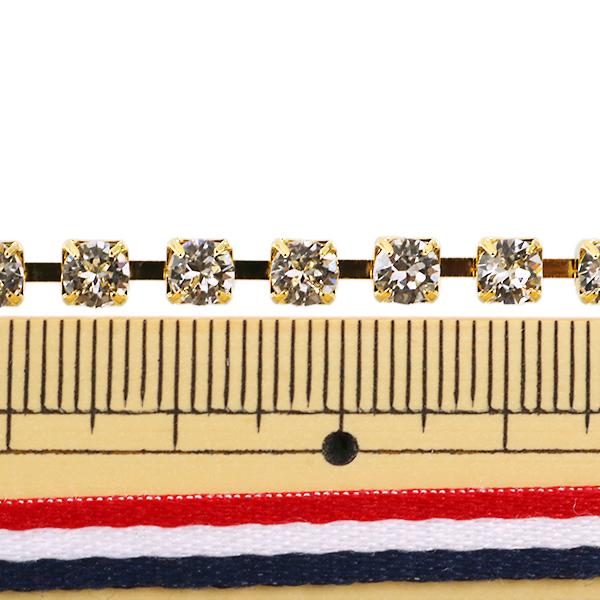 【数量5から】スワロフスキー 『#130 ダイヤチェーン クリスタル』 SWAROVSKI スワロフスキー社
