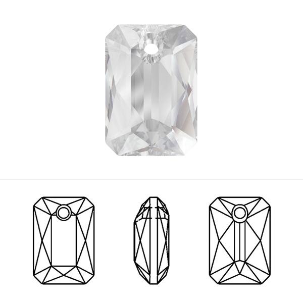 スワロフスキー 『#6435 Emerald Cut Pendant クリスタル 11.5mm 1粒』 SWAROVSKI スワロフスキー社