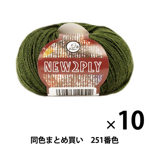 【10玉セット】秋冬毛糸 『NEW 2PLY(ニューツープライ) 251番色』 Puppy パピー【まとめ買い・大口】