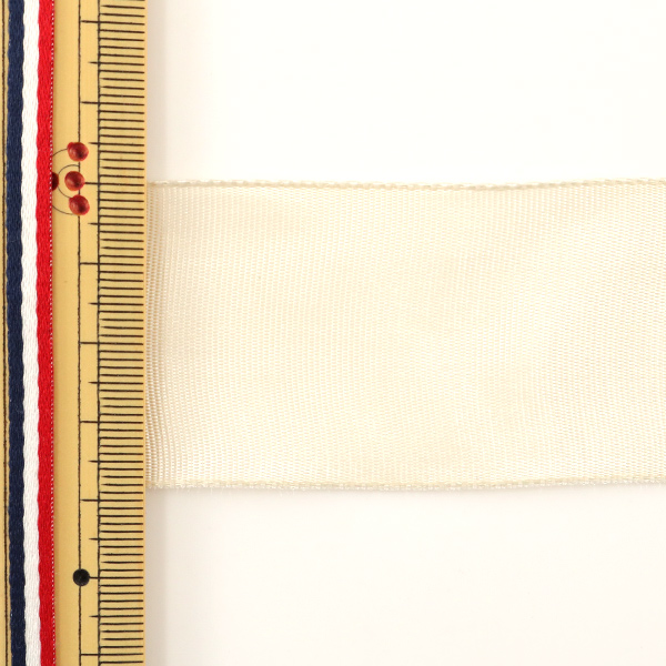 【数量5から】 リボン 『イクシーズ ワイヤー入り 40mm幅 1468-19』