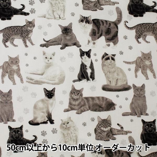 【数量5から】 生地 『インクジェットプリント シーチング CATS KOW-7151-1』