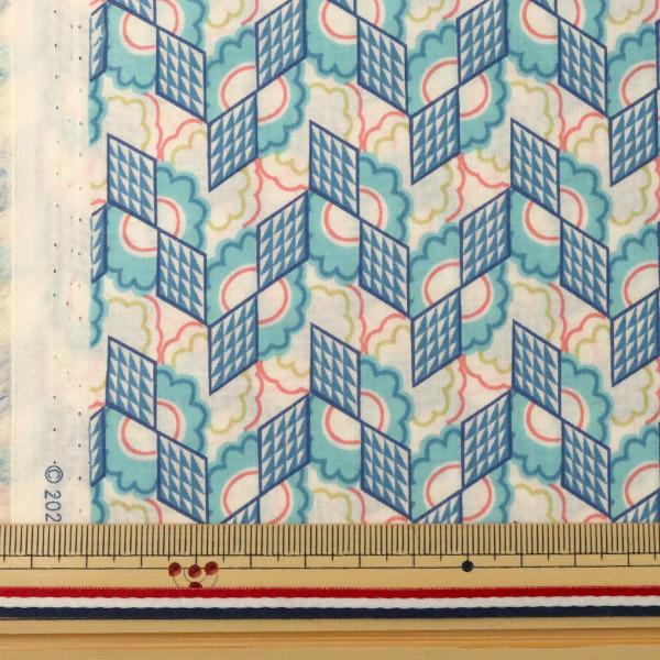 【数量5から】生地 『LIBERTY リバティプリント タナローン リフラクション ブルー』 Liberty Japan リバティジャパン