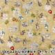 【数量5から】 生地 『綿麻キャンバス ピーターラビット Fruit&Veg(フルーツアンドベジ) イエロー PRC-01C』