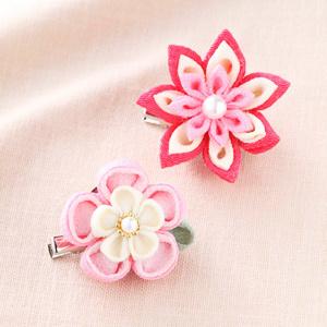 手芸キット 『京ちりめんつまみ細工 お花のブローチ ピンク LH-380』 Panami パナミ タカギ繊維