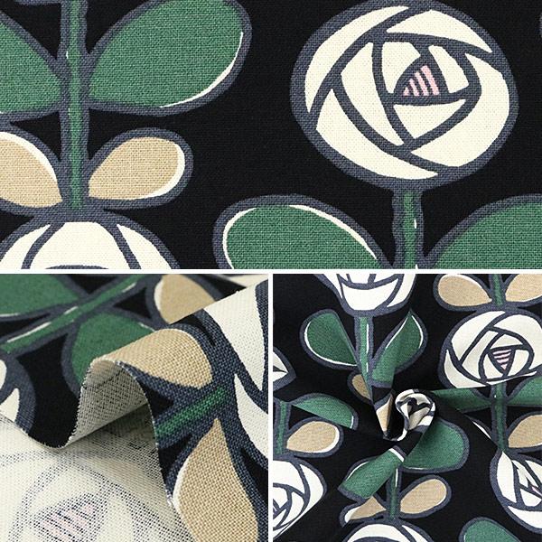 【数量5から】生地 『10番キャンバス バラ UP5693-D う早この布』 COTTON KOBAYASHI コットンこばやし 小林繊維