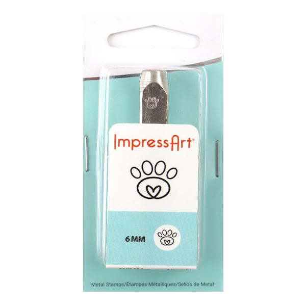 金属刻印 メタルスタンピング 『ImpressArt デザインスタンプ パウプリント (ハート) 6mm U1032 6』 MIYUKI ミユキ
