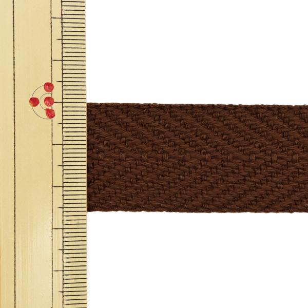 【数量5から】 手芸テープ 『太綾テープ 25mm #527 焦茶』 【ユザワヤ限定商品】