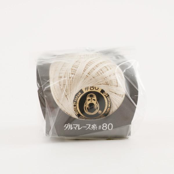 レース糸 『ダルマレース糸 #80 5g 3番色』 DARUMA ダルマ 横田
