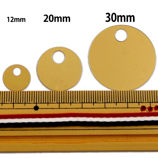 スパンコール 『トップホール 20mm LH 12番色』