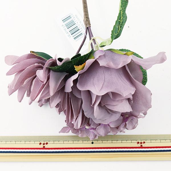 造花 シルクフラワー 『ローズダリアミックスブッシュ ラベンダー VE4116』