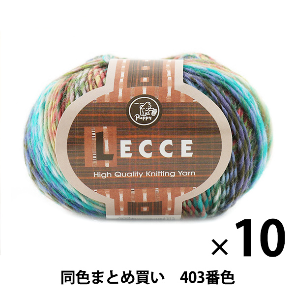 【10玉セット】秋冬毛糸 『LECCE(レッチェ) 403番色』 Puppy パピー【まとめ買い・大口】