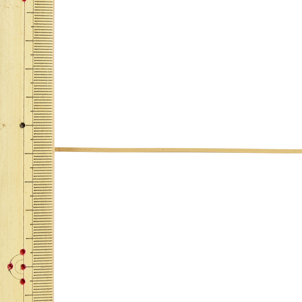 【数量5から】 手芸ひも 『レザーテープ 幅約1.5mm 4番色 アイボリー L-120』