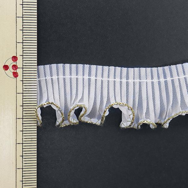 【数量5から】 フリルリボンテープ 『ウェーブフリル(ラメ糸)幅約 2.5cm 20番色』 渡邊布帛工業 株式会社