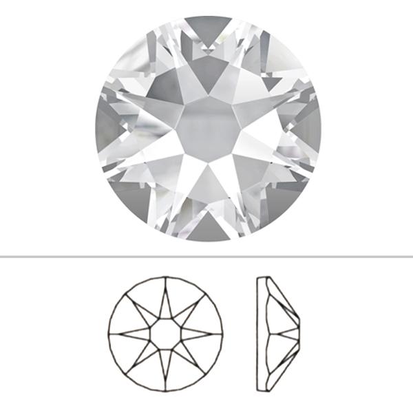 スワロフスキー 『#2088 XIRIUS Flat Back No-Hotfix ブラックダイアモンド 10粒』 SWAROVSKI