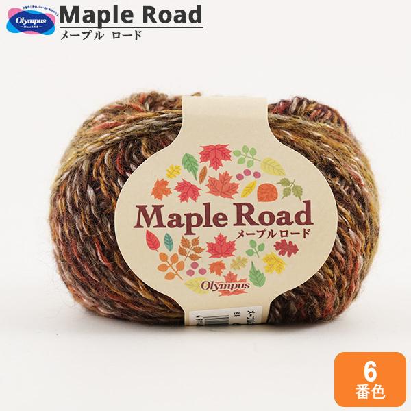 秋冬毛糸 『Maple Road (メープルロード) 6番色』 Olympus オリムパス