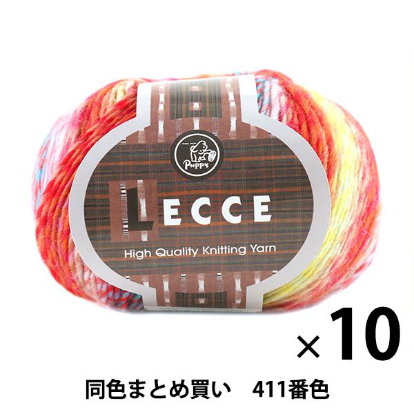 【10玉セット】秋冬毛糸 『LECCE(レッチェ) 411番色』 Puppy パピー【まとめ買い・大口】