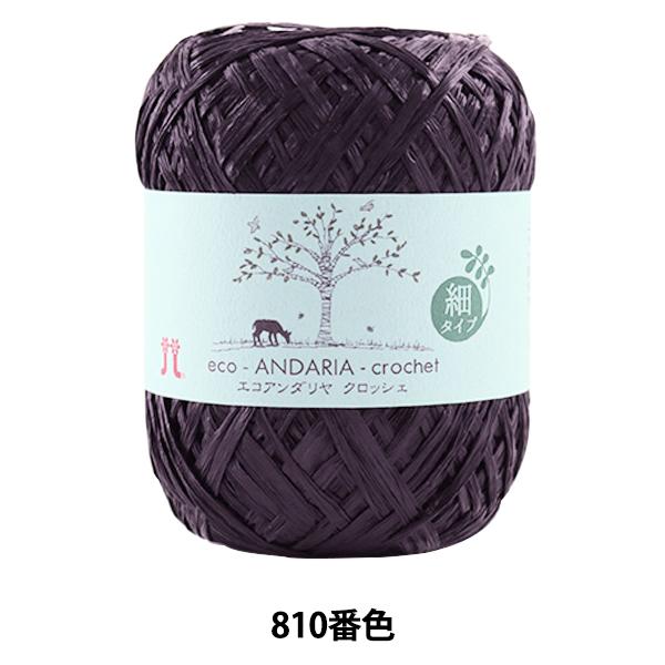 手芸糸 『エコアンダリヤ クロッシェ 810 (濃紺) 番色』 Hamanaka ハマナカ