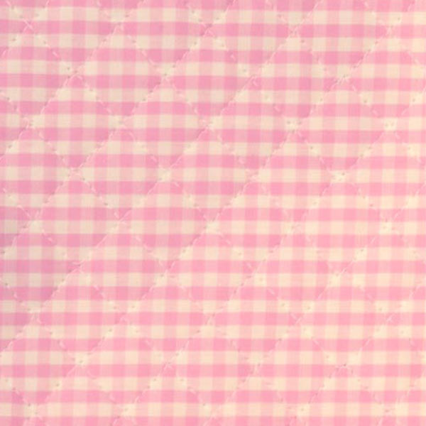 【数量5から】生地 『先染めギンガムキルティング中ピンク』