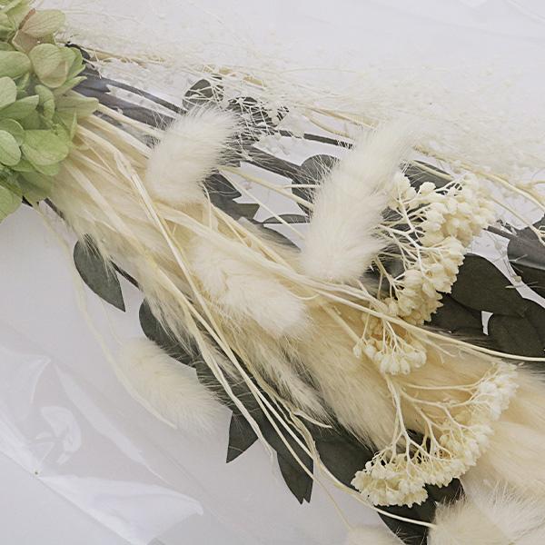 【フラワー商品最大20%オフ】 ドライフラワー 『ブーケピース・ロング 006 ホワイト×ホワイト』