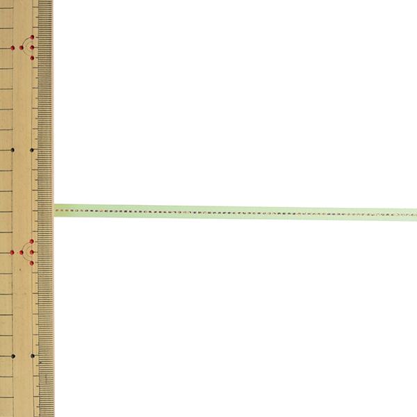 【数量5から】リボン 『グリッターWサテン ゴールド 幅約6mm 168番色 ペールグリーン 33115』 TOKYO RIBBON 東京リボン