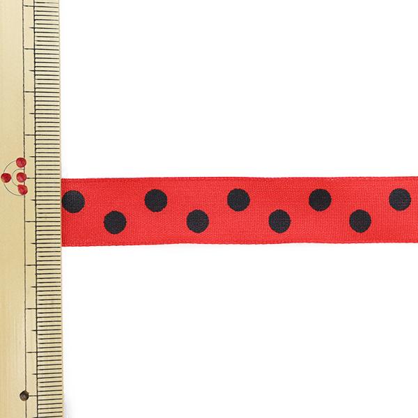 【数量5から】 リボン 『フランス製ドットリボン ワイヤー入り 幅約1.6cm 6番色 6612』