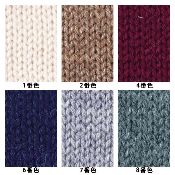 秋冬毛糸 『ロイヤルアルパカ インディゴ 6番色』【ユザワヤ限定商品】