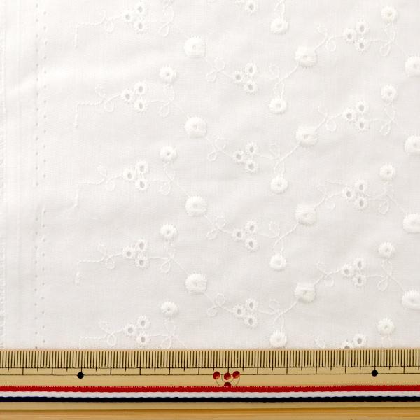 生地 『綿オールオーバーレース カットクロス 約130×100cm ホワイト』 LC-1MP-003