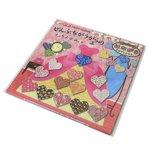 折り紙 千代紙 『ぜんぶちがうがらのちよがみ 花柄 006027』 トーヨー