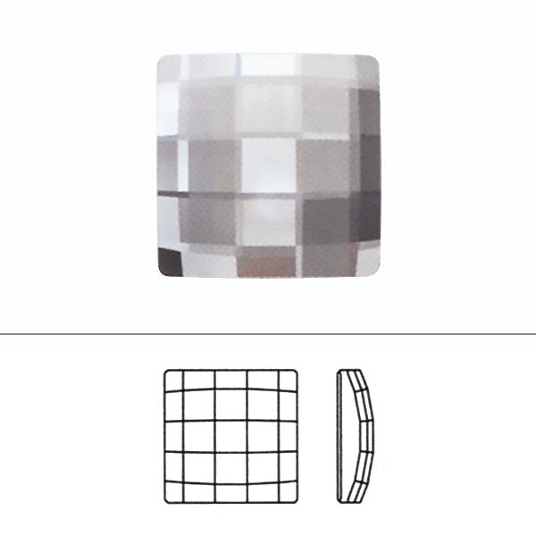スワロフスキー 『#2493 Chessbiard Flat Back クリスタル/AB 10mm 1粒』 SWAROVSKI スワロフスキー社