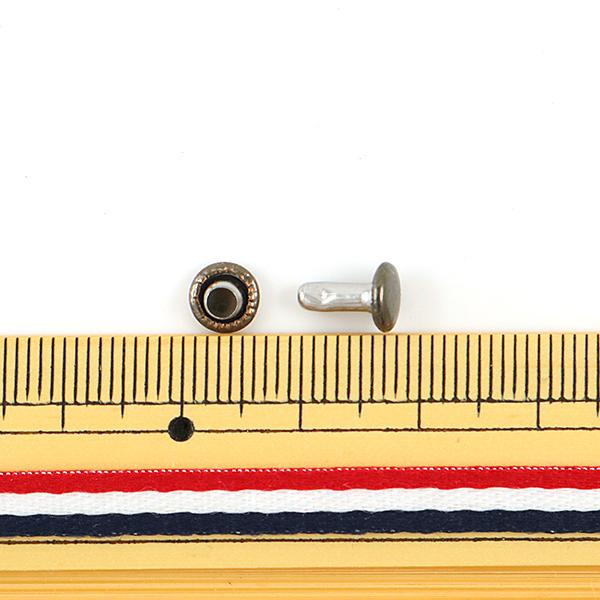 【レザークラフト最大20%オフ】 手芸金具 『両面足長カシメ 小 � 10個入り 11005-04』 LEATHER CRAFT クラフト社