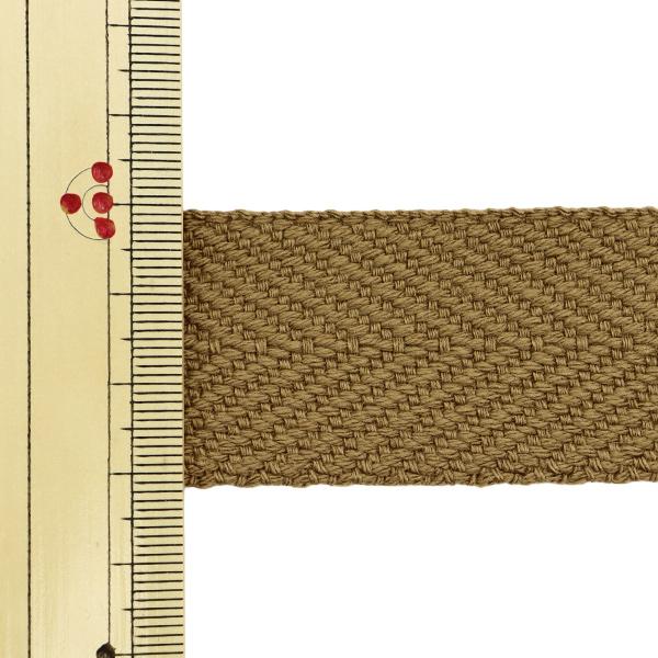 【数量5から】 手芸テープ 『太綾テープ 30mm #525 薄茶』 【ユザワヤ限定商品】
